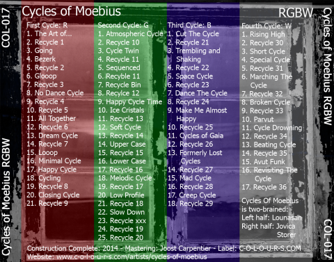 Cycles Of Moebius - RGBW - back cover CD-box